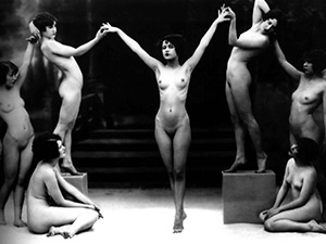 Vintage Erotica Desktop - Nude Flappers In Ceremony